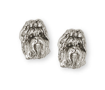 Shih Tzu Earrings Handmade Silver Shih Tzu Jewelry SZ1-E