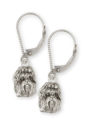 Shih Tzu Earrings Handmade Silver Shih Tzu Jewelry SZ1-KW