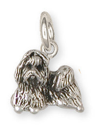 Lhasa Apso Charm Handmade Sterling Silver Dog Jewelry SZ13-C