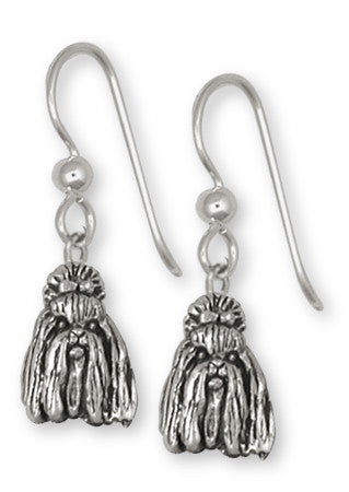 Shih Tzu Earrings Handmade Silver Shih Tzu Jewelry SZ16-E