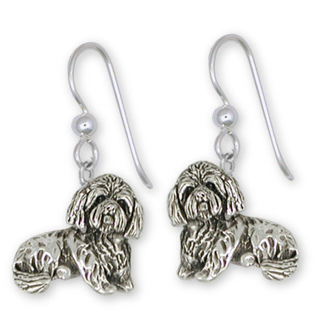 Shih Tzu Earrings Handmade Silver Shih Tzu Jewelry SZ18-E