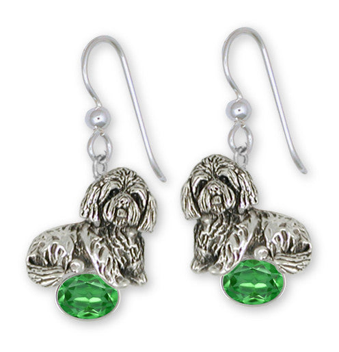 Shih Tzu Earrings Handmade Silver Shih Tzu Jewelry SZ18-SE