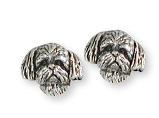 Shih Tzu Earrings Handmade Silver Shih Tzu Jewelry SZ21H-E