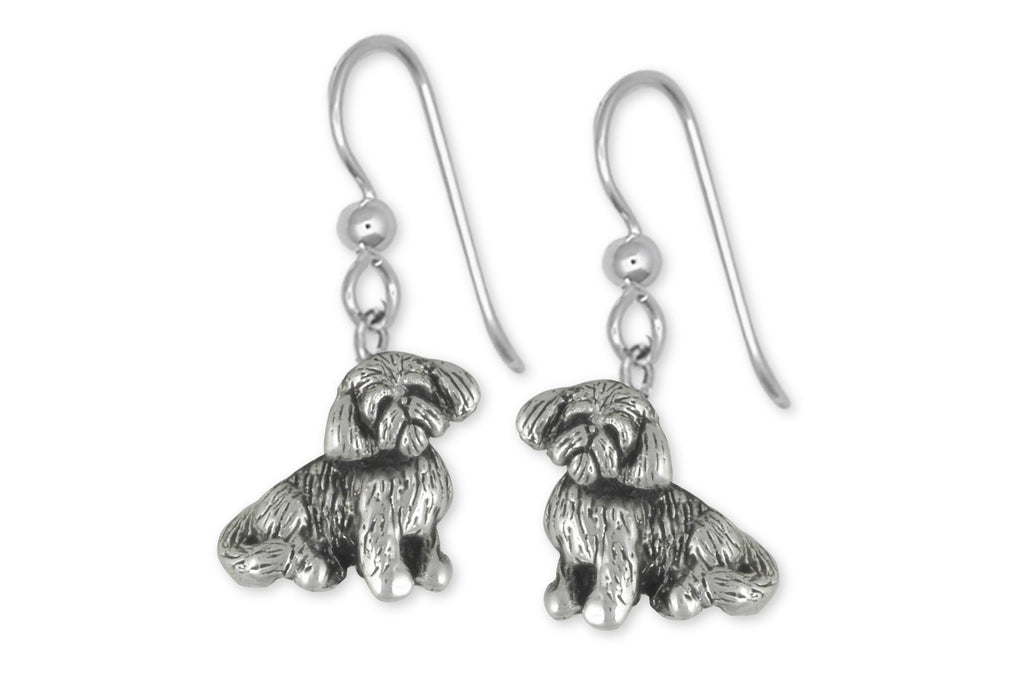 Shih Tzu Charms Shih Tzu Earrings Handmade Sterling Silver Dog Jewelry Shih Tzu jewelry