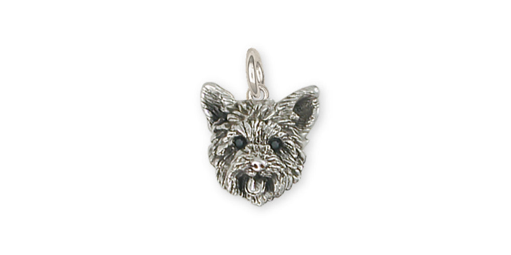 Yorkie Yorkshire Terrier Charms Yorkie Yorkshire Terrier Charm Sterling Silver Dog Jewelry Yorkie Yorkshire Terrier jewelry
