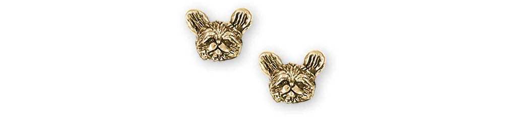Shih Tzu Charms Shih Tzu Earrings 14k Yellow Gold Shih Tzu Jewelry Shih Tzu jewelry