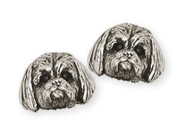 Shih Tzu Earrings Handmade Silver Shih Tzu Jewelry SZ4-E