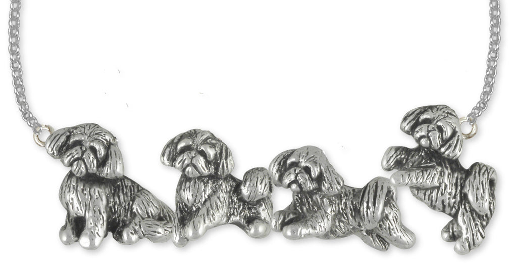 Shih Tzu Charms Shih Tzu Necklace Handmade Sterling Silver Dog Jewelry Shih Tzu jewelry