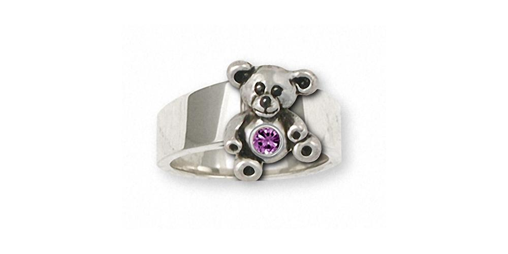 Teddy Bear Charms Teddy Bear Ring Sterling Silver Teddy Bear Jewelry Teddy Bear jewelry