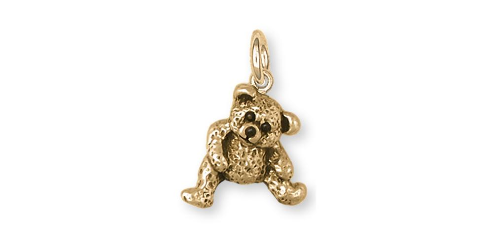 Teddy Bear Charms Teddy Bear Charm 14k Gold Teddy Bear Jewelry Teddy Bear jewelry