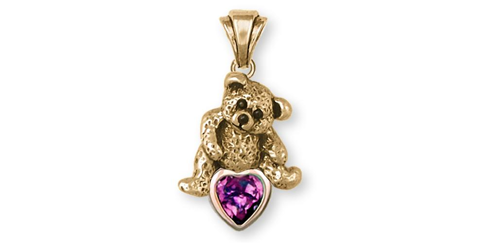 Teddy Bear Charms Teddy Bear Pendant 14k Gold Teddy Bear Jewelry Teddy Bear jewelry