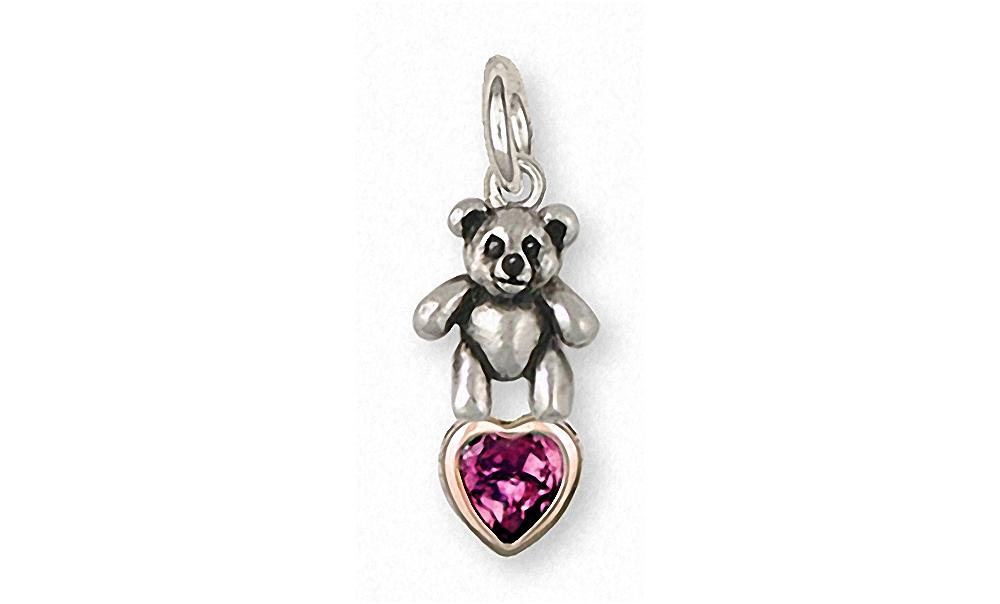 Teddy Bear Laser Engraved Light Weight Pendant Charm 14k Yellow Gold