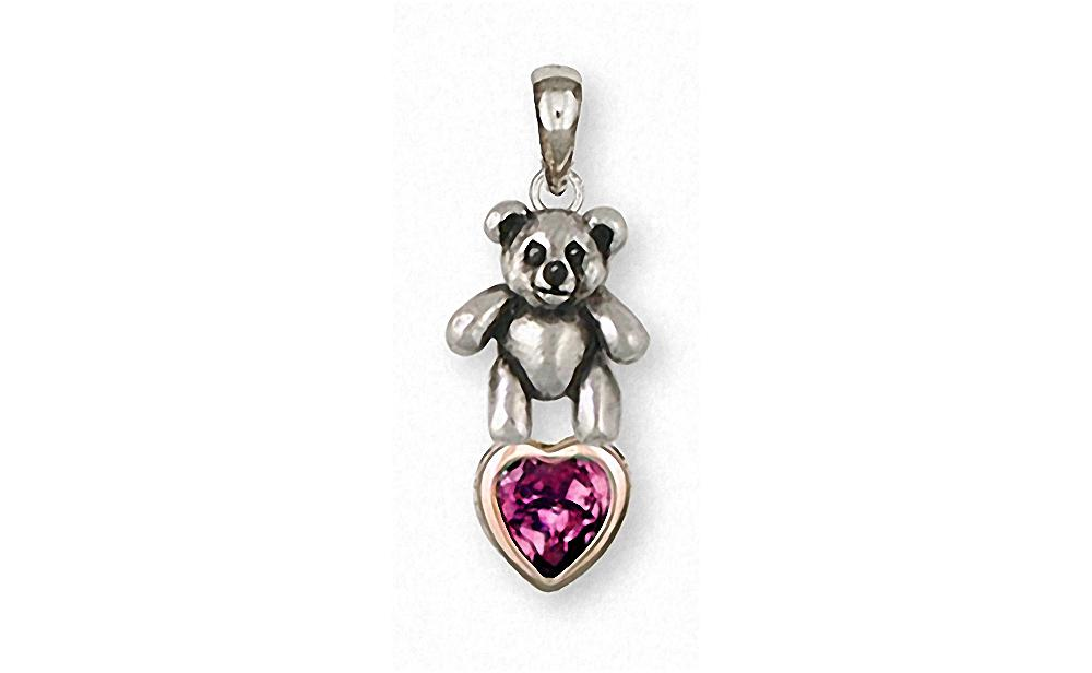 Teddy Bear Charms Teddy Bear Pendant Silver And Gold Teddy Bear Jewelry Teddy Bear jewelry