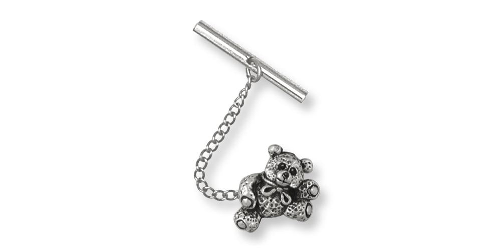 Teddy Bear Charms Teddy Bear Tie Tack Sterling Silver Teddy Bear Jewelry Teddy Bear jewelry