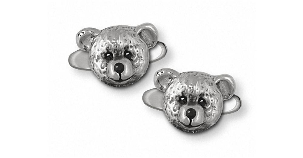 Teddy Bear Charms Teddy Bear Cufflinks Sterling Silver Teddy Bear Jewelry Teddy Bear jewelry