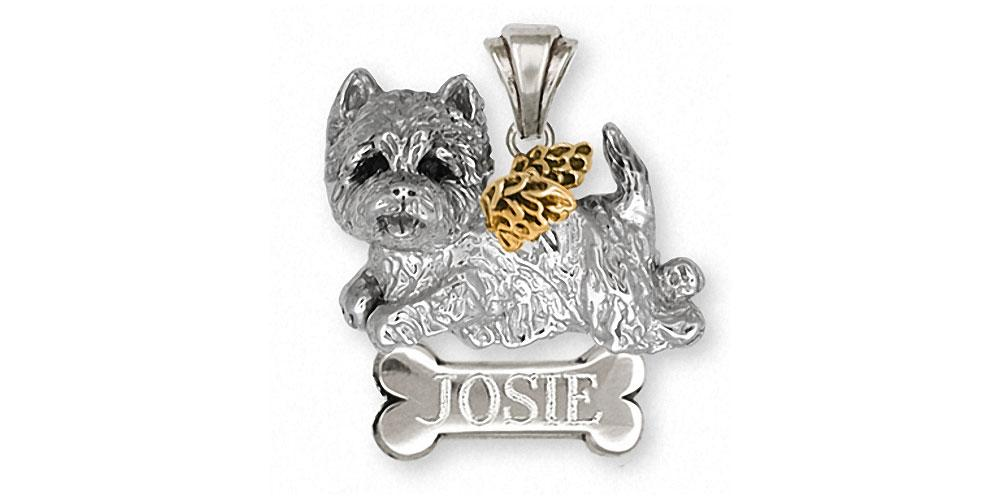 Westie Charms Westie Pendant Silver And Gold Dog Jewelry Westie jewelry