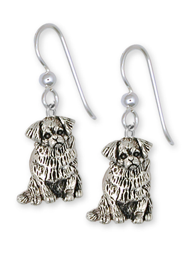 Tibetan Spaniel Charms Tibetan Spaniel Earrings Handmade Sterling Silver Dog Jewelry Tibetan Spaniel jewelry