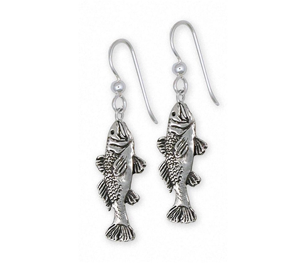 Trout Charms Trout Earrings Sterling Silver Fish Jewelry Trout jewelry