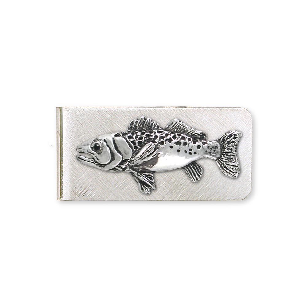Trout Charms Trout Money Clip Sterling Silver Fish Jewelry Trout jewelry