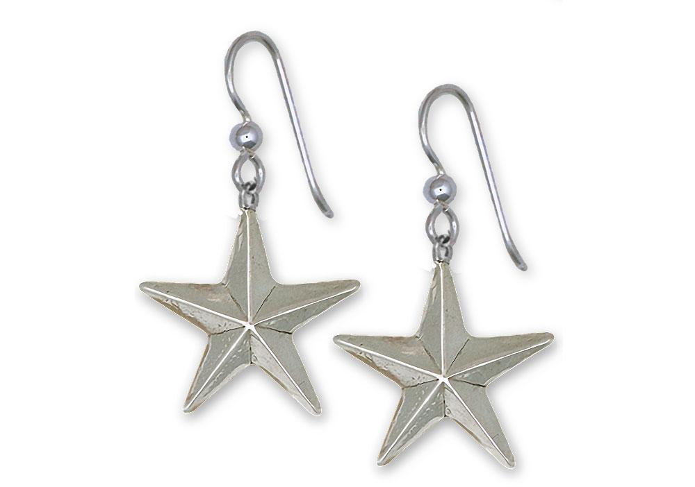 Texas Star Charms Texas Star Earrings Sterling Silver Texas Jewelry Texas Star jewelry