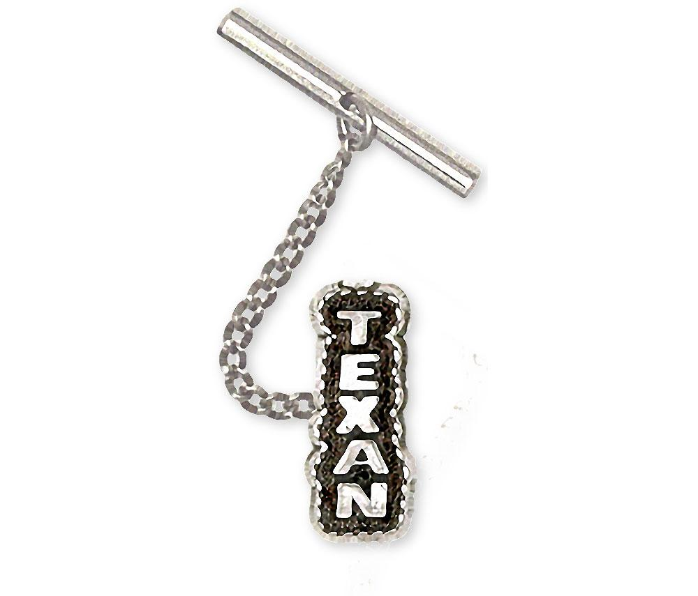 Texan Charms Texan Tie Tack Sterling Silver Texas Jewelry Texan jewelry