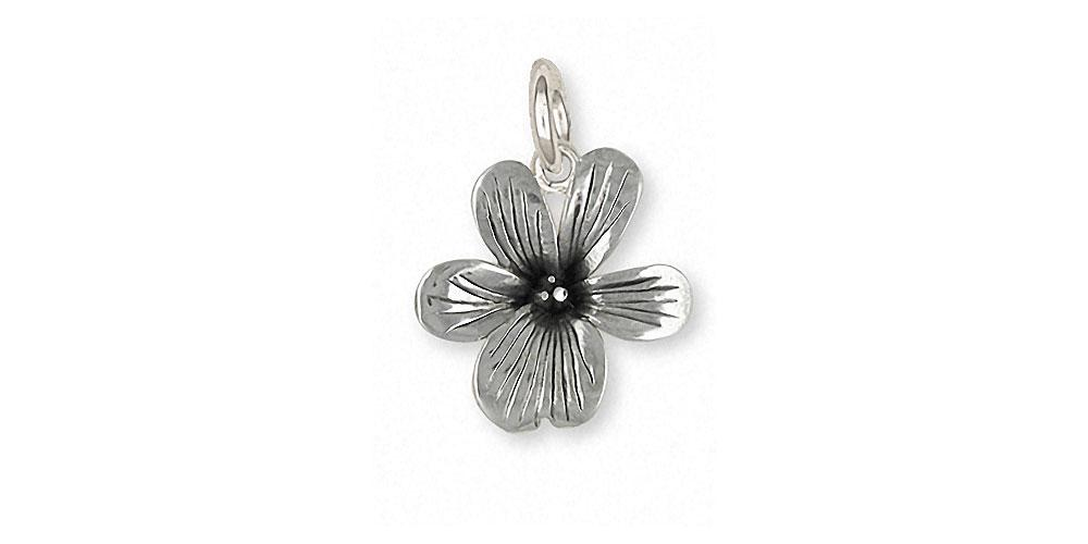 Violet Charms Violet Charm Sterling Silver Flower Jewelry Violet jewelry