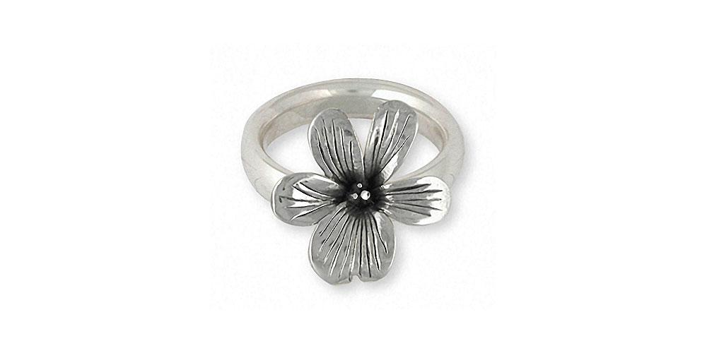 Violet Charms Violet Ring Sterling Silver Flower Jewelry Violet jewelry