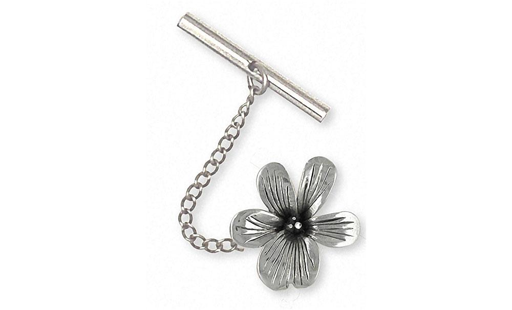 Violet Charms Violet Tie Tack Sterling Silver Flower Jewelry Violet jewelry