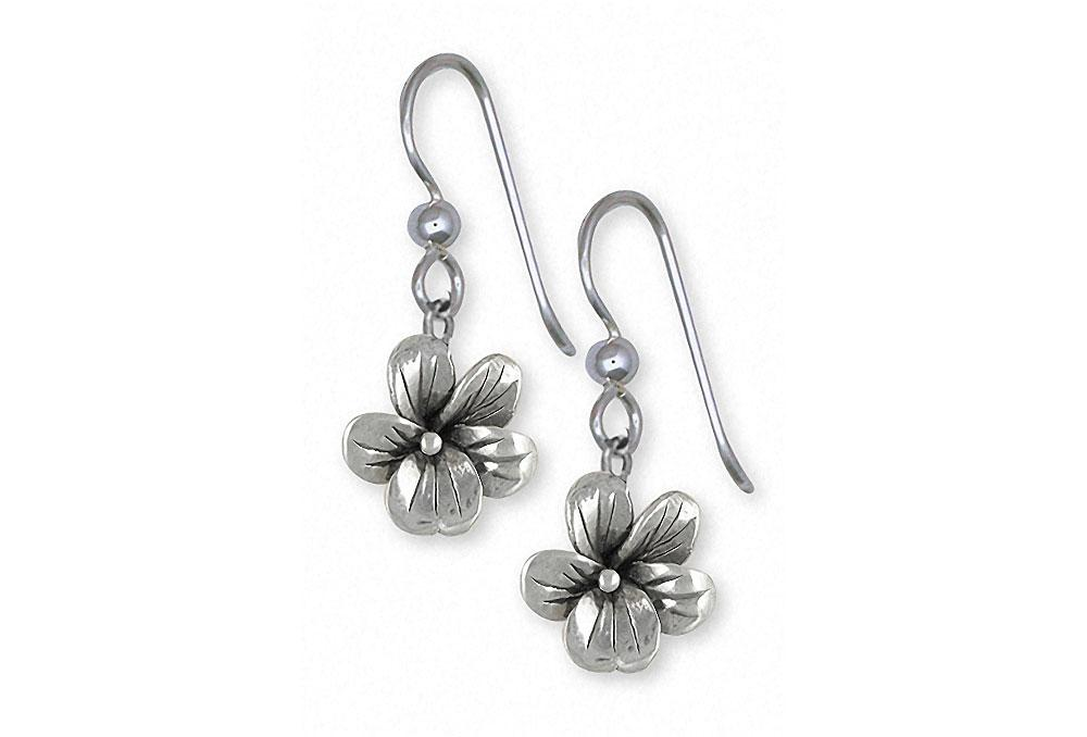 Violet Charms Violet Earrings Sterling Silver Flower Jewelry Violet jewelry