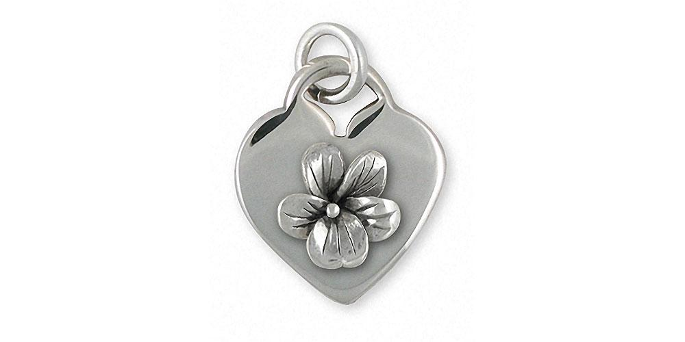 Violet Charms Violet Pendant Sterling Silver Flower Jewelry Violet jewelry