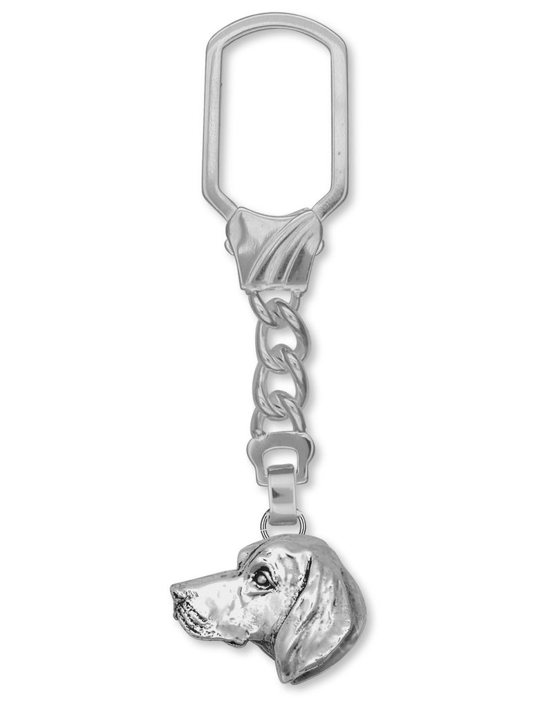 Vizsla Charms Vizsla Key Ring Sterling Silver Dog Jewelry Vizsla jewelry