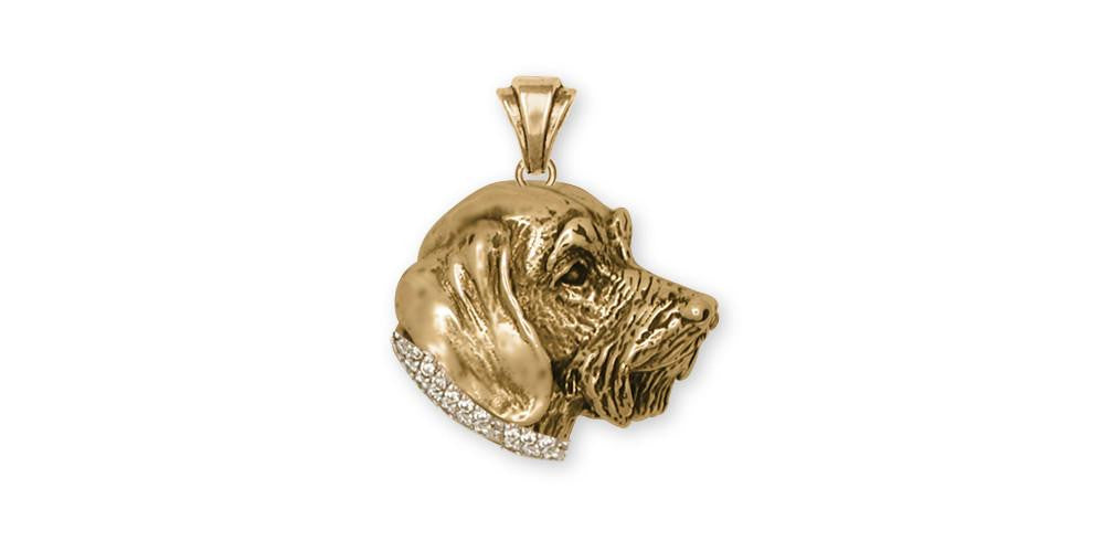 Wire Hair Dachshund Dog Pendant 14k Gold Esquivel and Fees