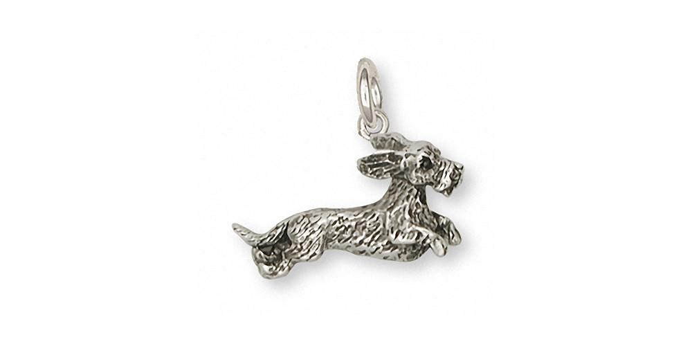 Wire Hair Dachshund Charms Wire Hair Dachshund Charm Sterling Silver Dog Jewelry Wire Hair Dachshund jewelry