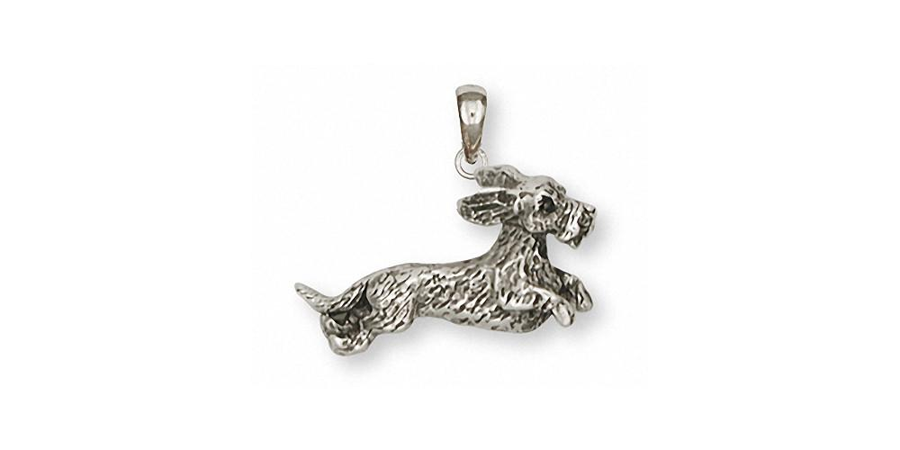 Wire Hair Dachshund Charms Wire Hair Dachshund Pendant Sterling Silver Dog Jewelry Wire Hair Dachshund jewelry