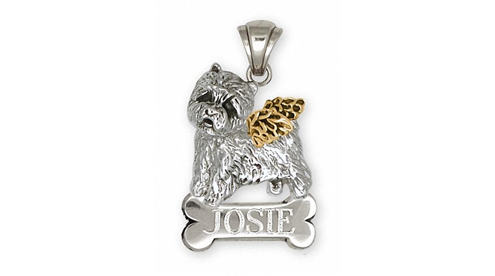 Westie Charms Westie Pendant Silver And Gold West Highland White Terrier Jewelry Westie jewelry