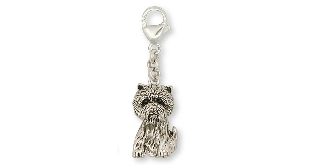 Cairn Terrier Charms Cairn Terrier Zipper Pull Sterling Silver Dog Jewelry Cairn Terrier jewelry