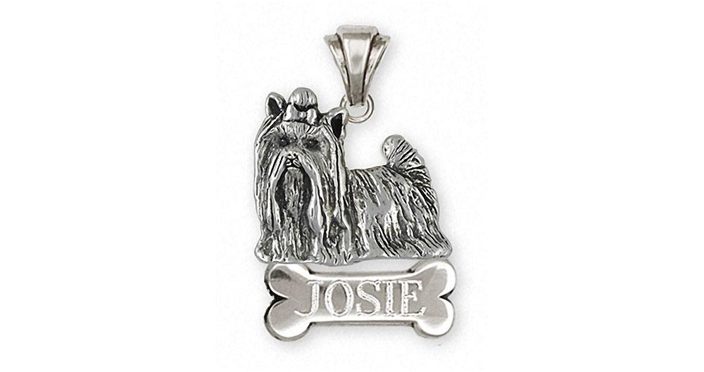 Yorkie yorkshire terrier pendant sterling silver esquivel and fees yorkie charms yorkie pendant sterling silver yorkshire terrier jewelry yorkie jewelry aloadofball Image collections