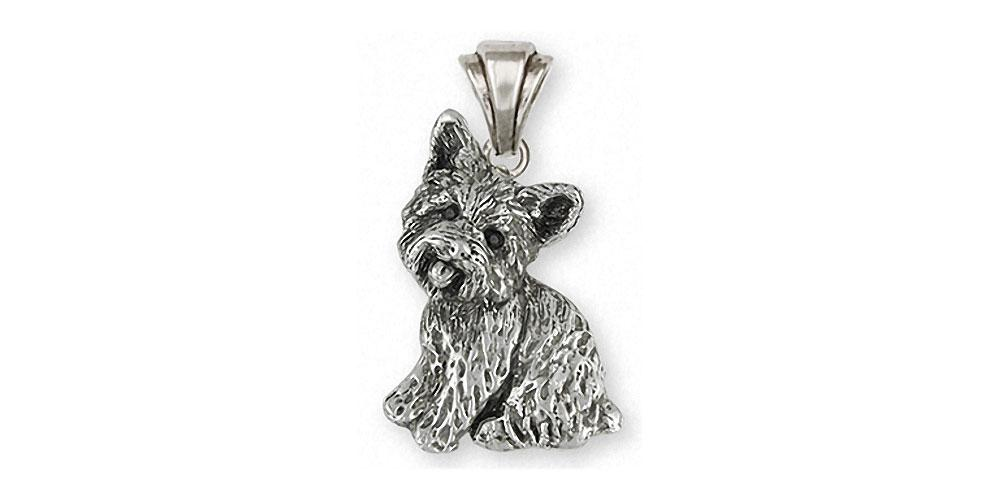 Yorkie dog pendant sterling silver esquivel and fees handmade yorkie charms yorkie pendant sterling silver dog jewelry yorkie jewelry aloadofball Gallery