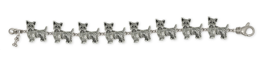 Yorkie Puppy Charms Yorkie Puppy Bracelet Sterling Silver Dog Jewelry Yorkie Puppy jewelry