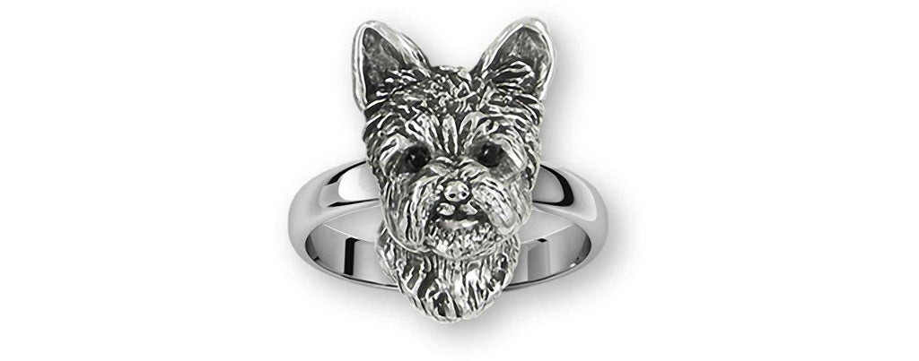 Yorkshire Terrier Charms Yorkshire Terrier Ring Sterling Silver Yorkie Jewelry Yorkshire Terrier jewelry