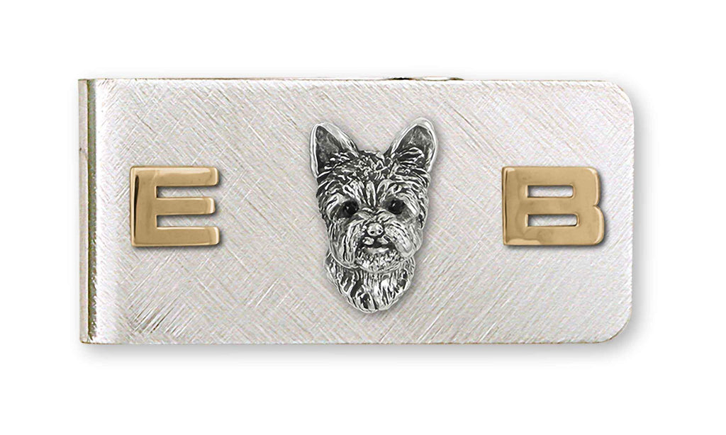 Yorkshire Terrier Charms Yorkshire Terrier Money Clip Silver And 14k Gold Yorkie Jewelry Yorkshire Terrier jewelry