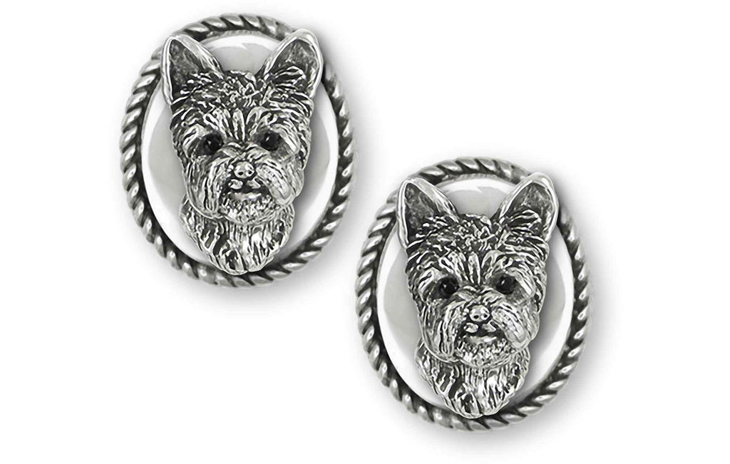 Yorkshire Terrier Charms Yorkshire Terrier Cufflinks Sterling Silver Yorkie Jewelry Yorkshire Terrier jewelry