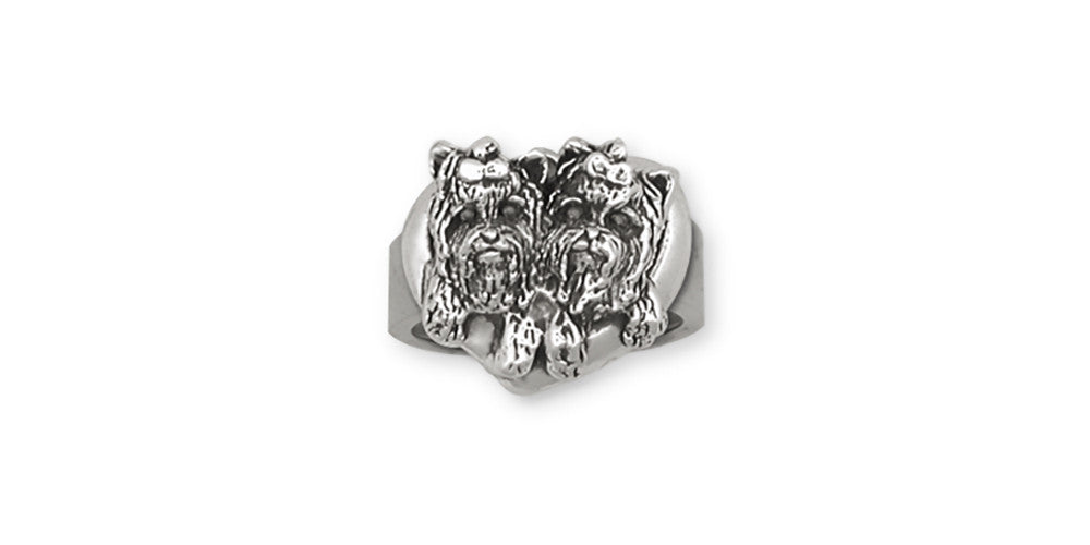 Yorkie Yorkshire Terrier Charms Yorkie Yorkshire Terrier Ring Sterling Silver Dog Jewelry Yorkie Yorkshire Terrier jewelry