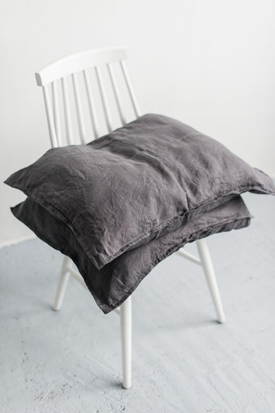 DARK PLATINUM GREY PILLOW CASES