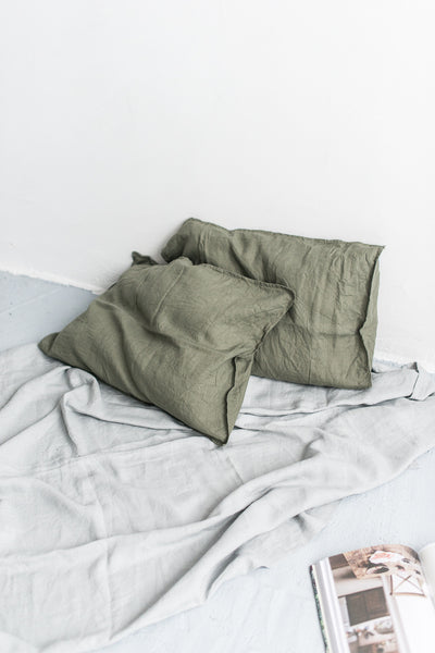 PINE GREEN PILLOW CASES