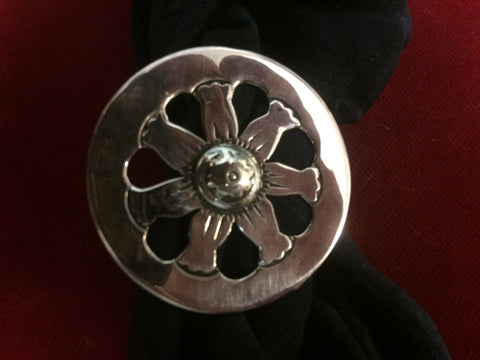 "Scarf Slide: Sterling 1 1/2"" Wheel design, One of a Kind."