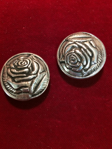 Conchos: Pair of Cast Sterling ROSE's