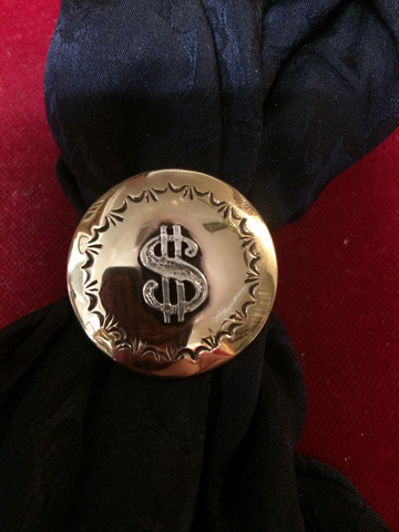 "Slide: Brass 1 1/4"" with Sterling Dollar Sign overlay"