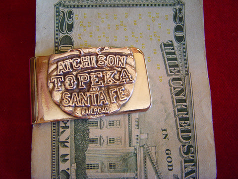 "Money Clip: Railroad, ""Atchison, Topeka & Santa Fe"""