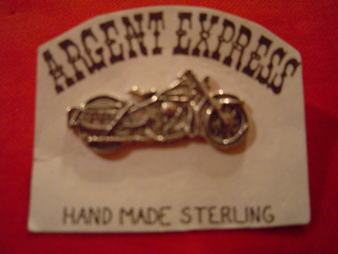 "Pin: Motorcycle ""Pan Head"", Sterling"